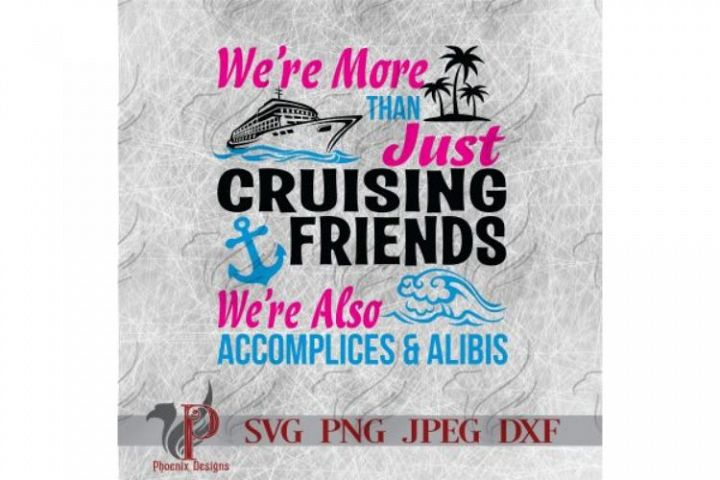 Cruising Friends SVG, Summer, Beach, Ocean, Cruise Ship