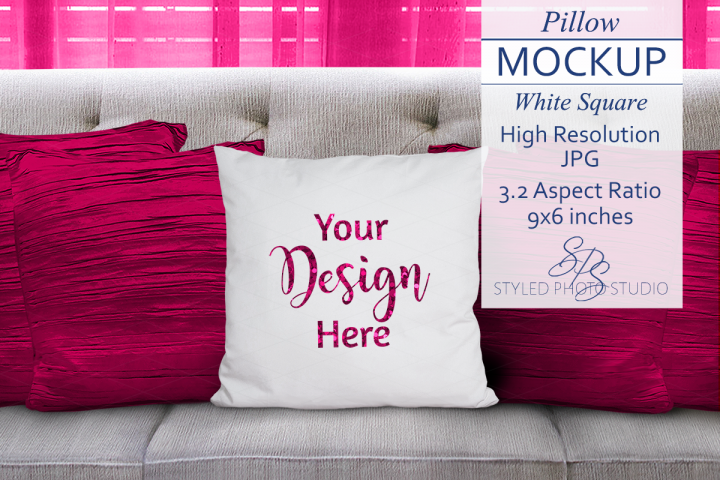 Valentine Pillow Mockup PINK 3.2 Aspect Ratio