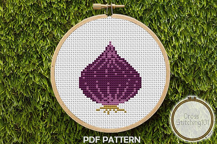 Onion Cross Stitch Pattern - Instant Download PDF