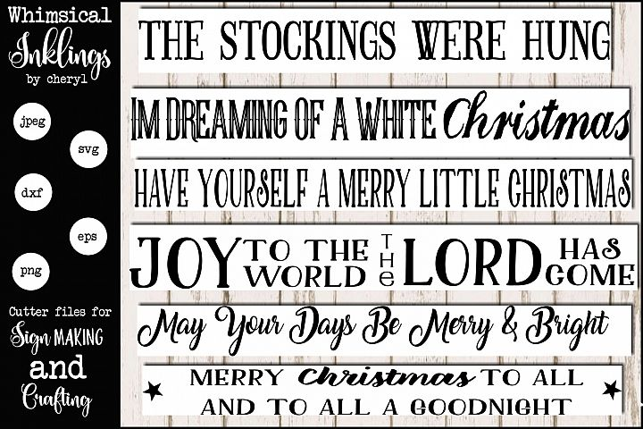 Merry Christmas To All Sign Mini Bundle SVG