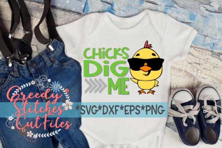 Easter | Chicks Dig Me SVG, DXF, EPS, PNG.