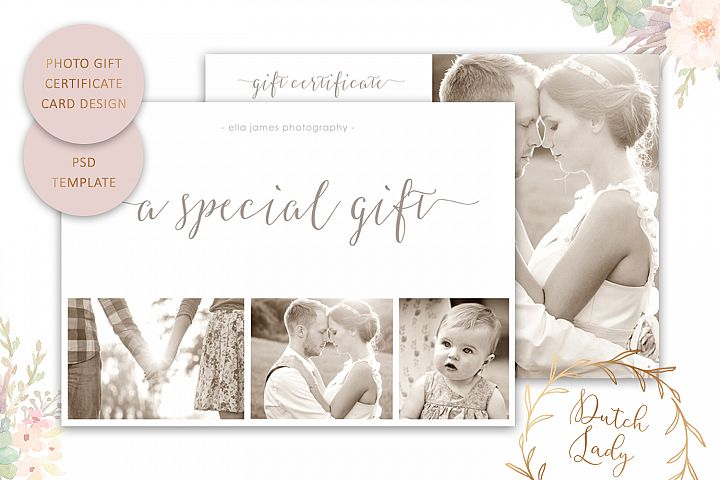 Photo Gift Card Template for Adobe Photoshop - #8