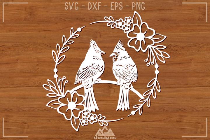 Cardinal Bird Papercut Svg Design
