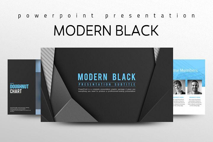 Modern Black Presentation Template
