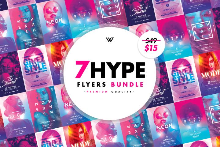 7 HYPE FEMININE Flyer Bundle