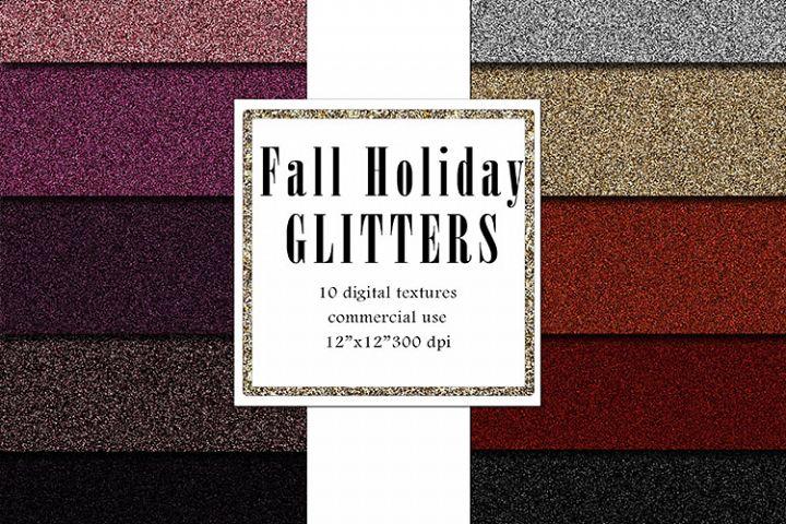 Fall Holiday Glitters, Black Glitter Background