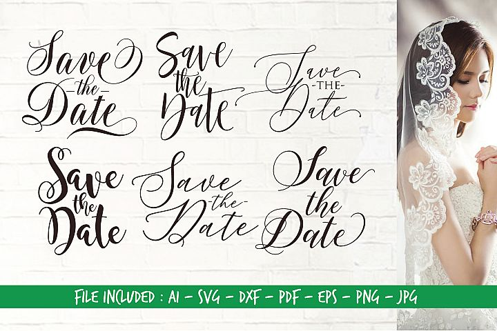 Digital Cutting Files_SVG_Save The Date