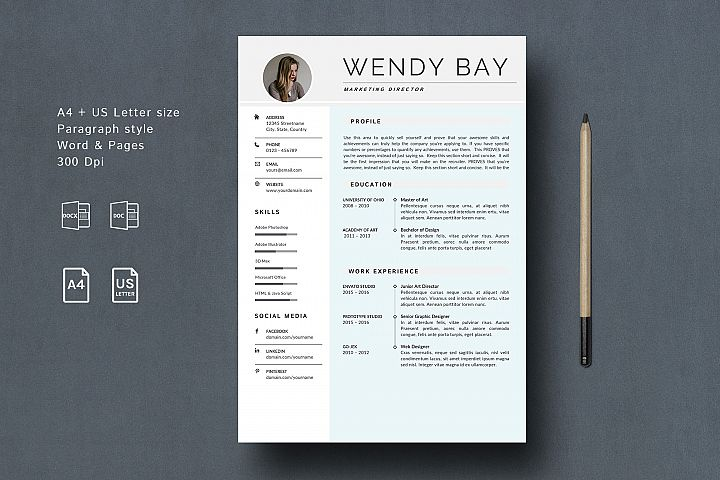 Creative Resume Template Clean & Simple