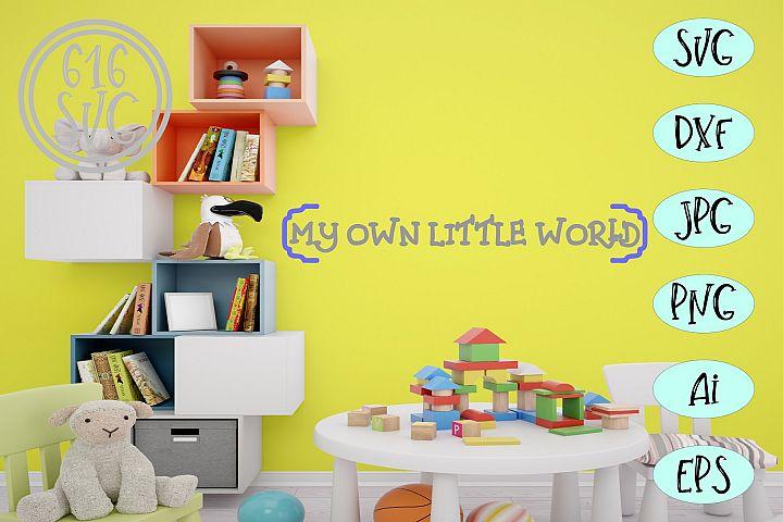 My own little world SVG