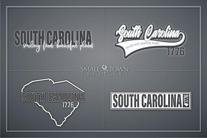 South Carolina, Smiling Faces - slogan, PRINT, CUT & DESIGN