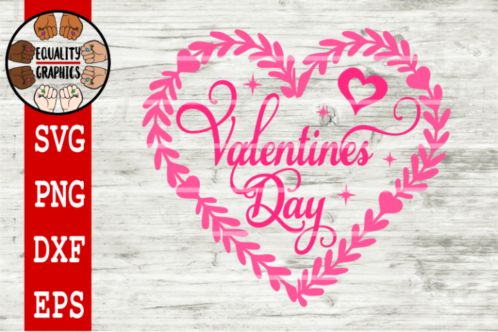 Valentines Day Heart SVG | DXF | PNG | EPS