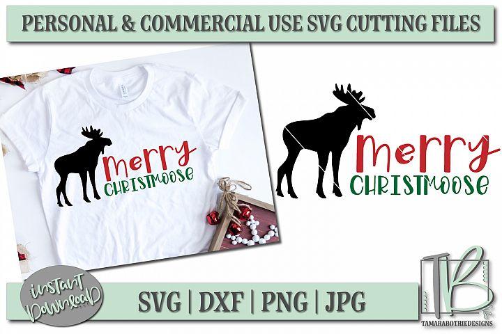 Merry Christmoose SVG, Christmas Cut File