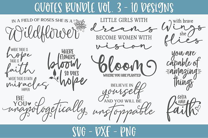 Quotes Bundle Vol. 3 - 10 SVG Designs