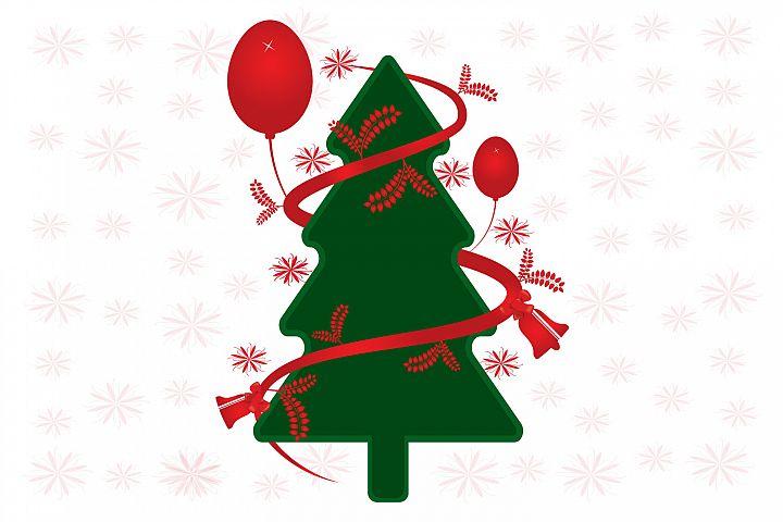 Merry Christmas tree vector design