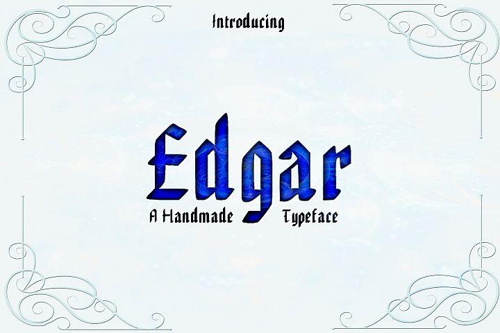 EDGAR, Handmade Gothic Typeface
