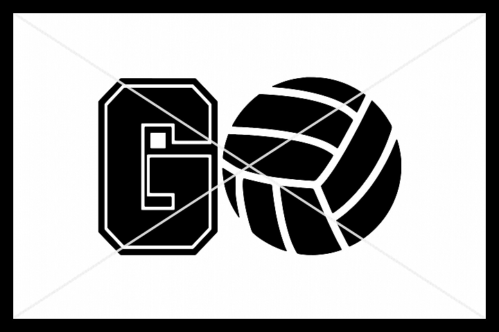 GO Volleyball, Cut File, Silhouette Cameo, Cricut, SVG DXF