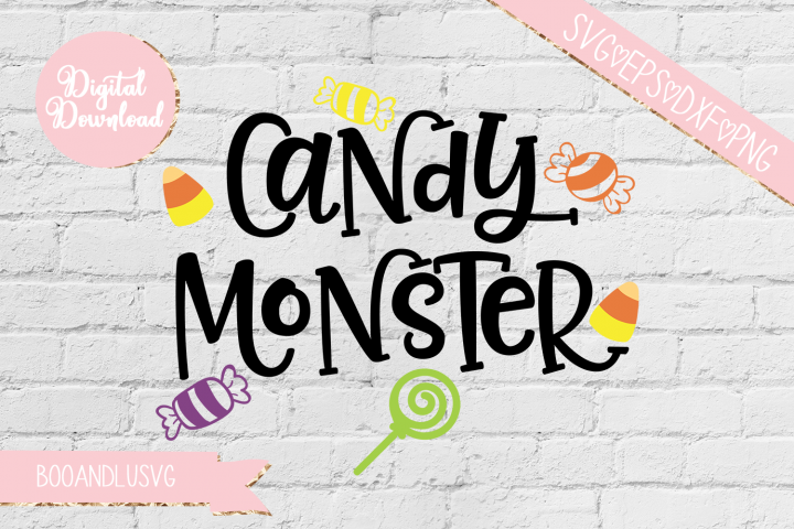 Candy Monster Halloween SVG EPS DXF PNG
