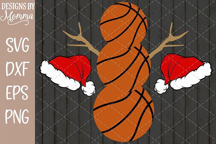 Basketball Snowman SVG
