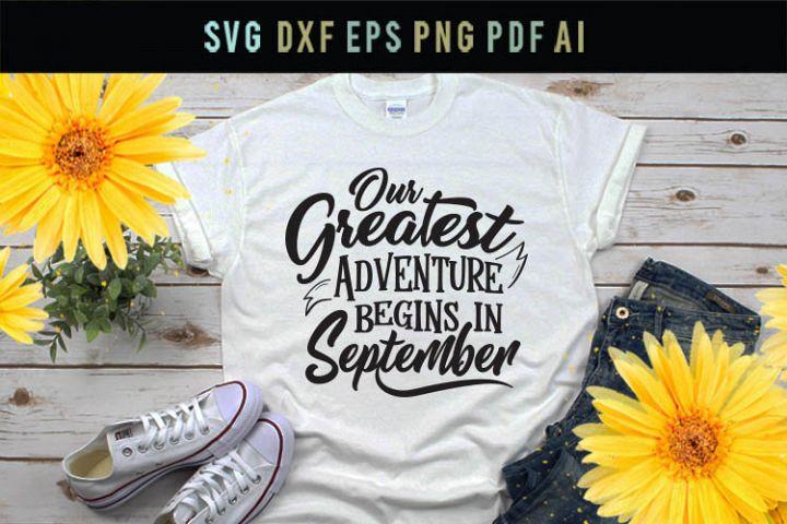 Our greatest adventure begins in September, pregnancy svg