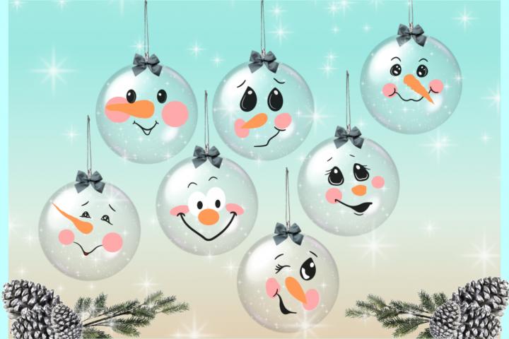 Snowman Face Bundle SVG Dxf Eps Png PDF Files for Cricut example 4