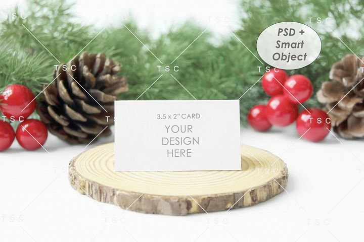 3.5 x 2 Card Mockup / Place Card / Christmas Place Card