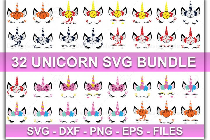 Unicorn Bundle SVG | Unicorn svg | Unicorn Face SVG