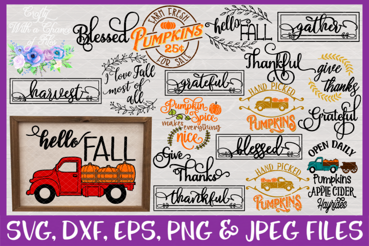 Fall & Thanksgiving SVG MEGA Bundle