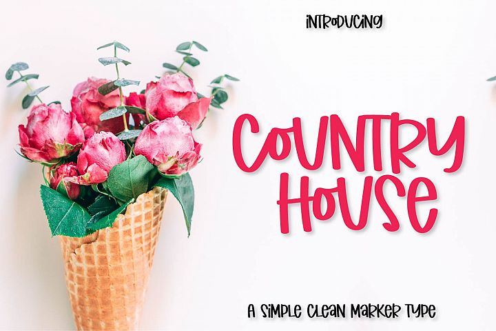 Country House - A Simple Clean Marker Type