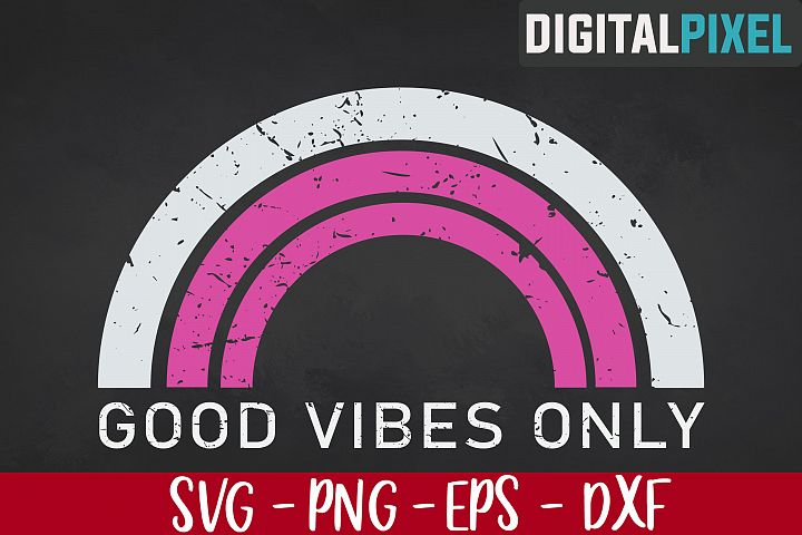 Good Vibes Only SVG PNG EPS | Summer Vibes SVG | Cricut