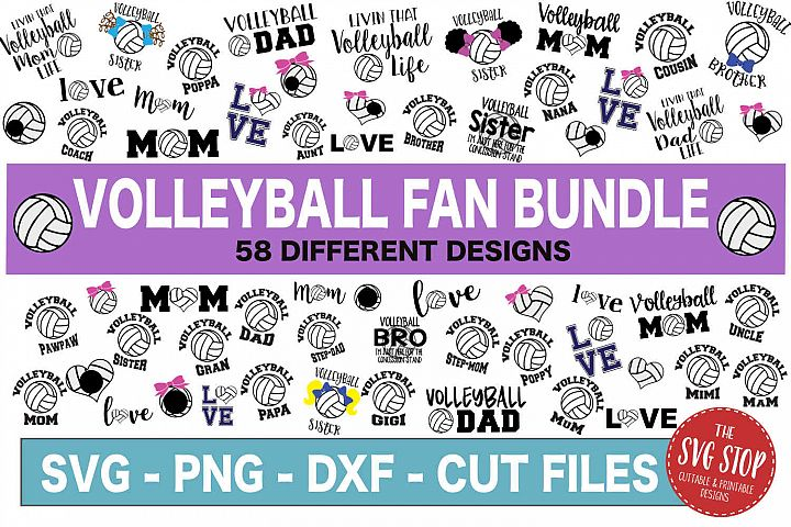 Volleyball Fan Bundle -SVG, PNG, DXF