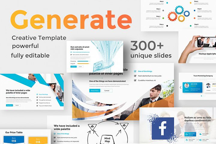 Generate Solutions Pitch Deck Keynote Template