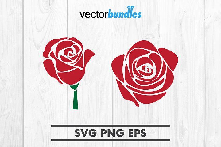Rose flower clip art svg
