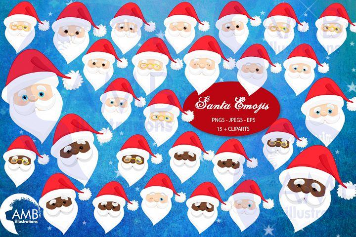 Santa claus emoji, Santa claus emoticons, AMB-2697