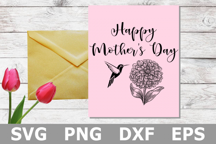 Hummingbird Mothers Day - A Mothers Day SVG Cut File