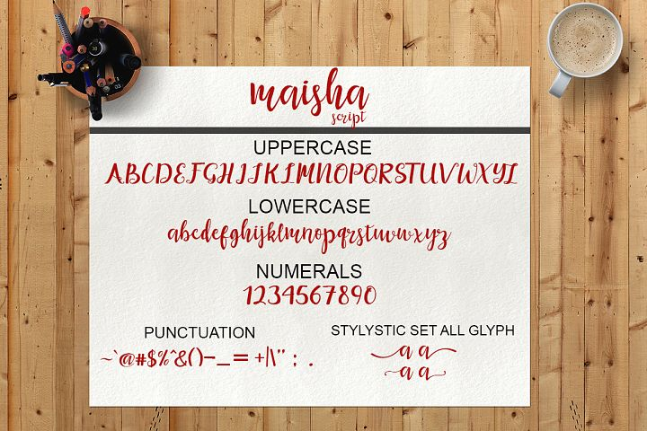 Maisha Script - Free Font of The Week Design5