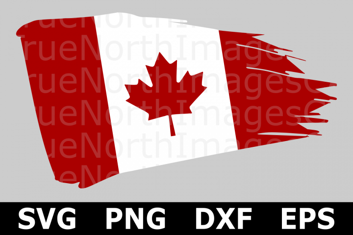 Canadian Distressed Flag - A Canada SVG Cut File