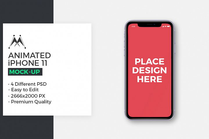Animated iPhone 11 Mockups