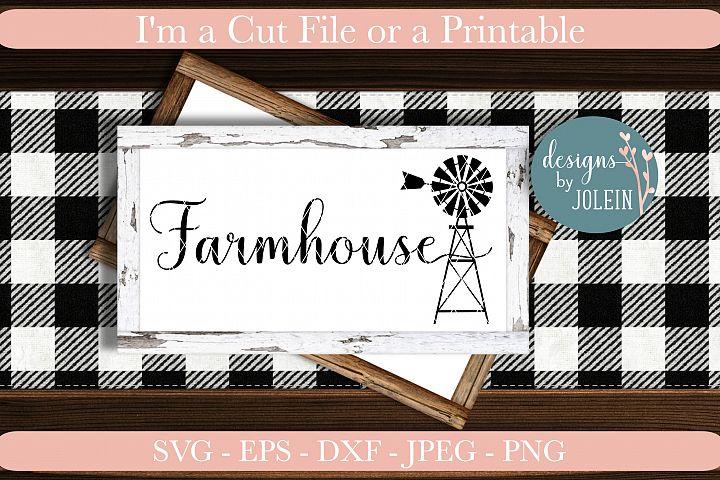 Farmhouse|Windmill SVG