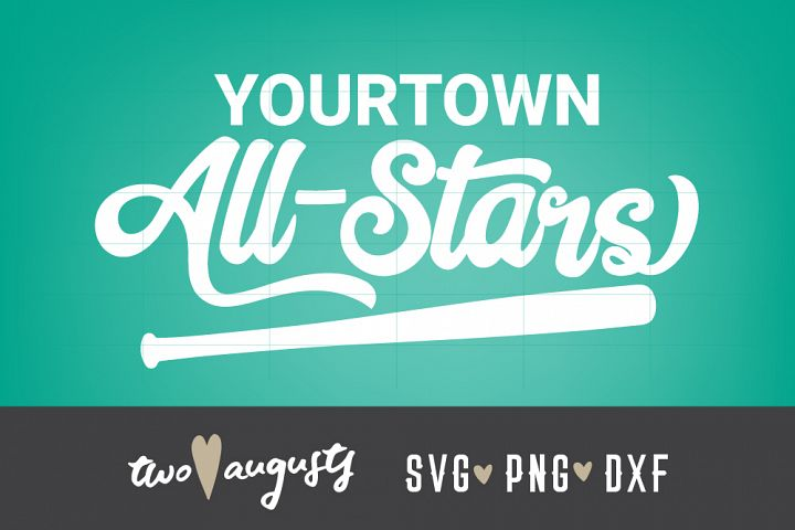 All Stars, Bat, Your Team, Personalize, Baseball Stitches