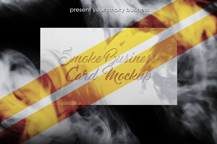 Smoke Business Card MockUp