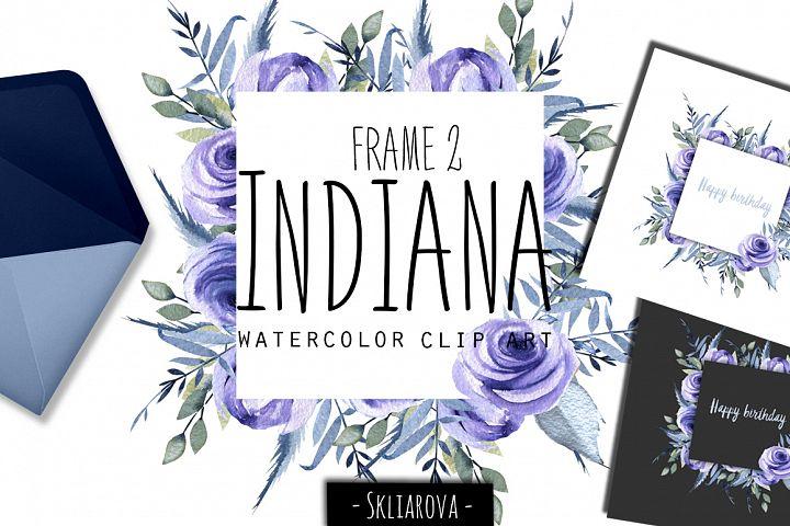 Indiana. Blue roses Frame #2