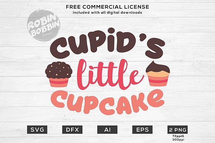 Cupids Little Cupcake - Valentines SVG File