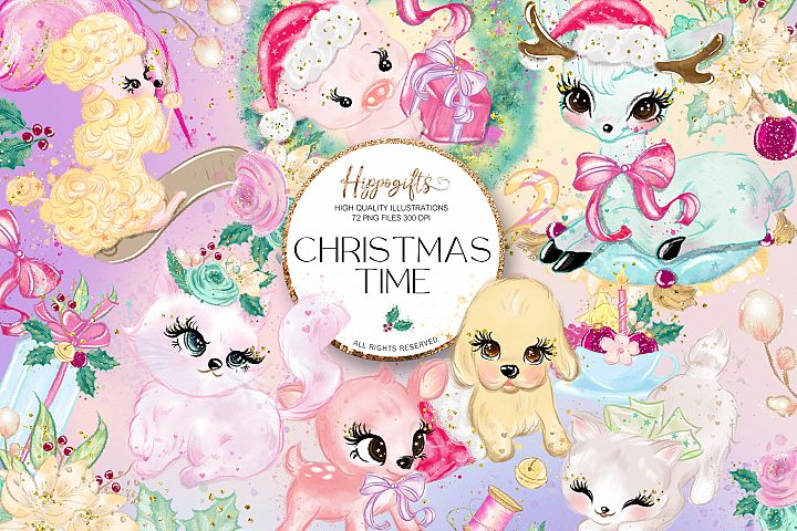 Animals Christmas Clip Art