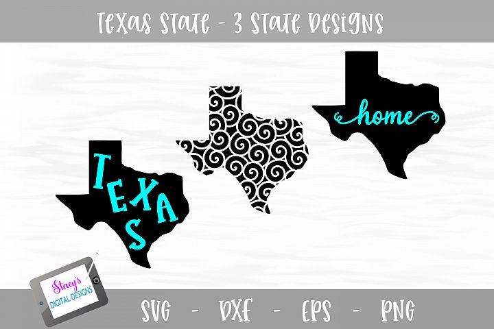 Texas Mini Bundle - 3 Texas State Designs