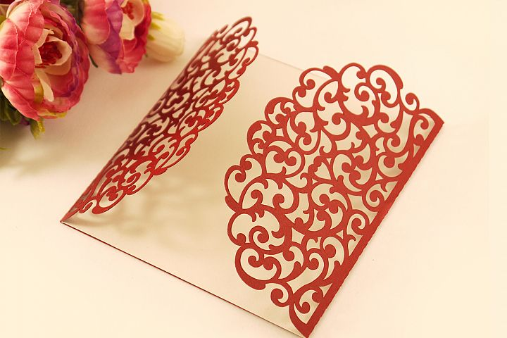 Gate fold wedding invitation , 5x5, SVG Cricut Template