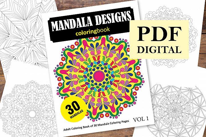Mandala Designs Coloring Book - 30 Unique Mandalas
