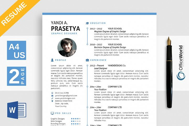 Clean Simple Resume / CV
