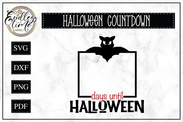 Halloween Countdown Sign SVG