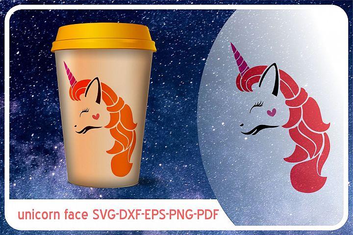 unicorn face svg unicornio clipart licorne dxf rainbow png