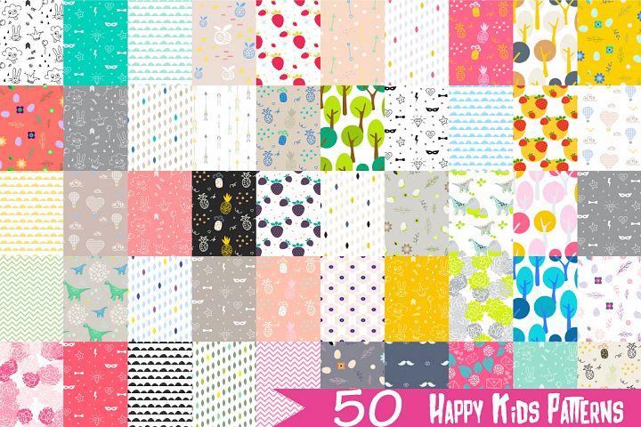 50 Happy Kids Patterns